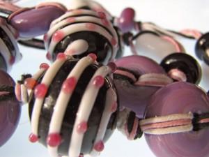 Bijoux en céramique et corde